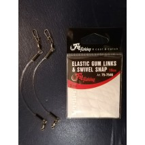 Filfishing Elastic Gum Links&Swivel Snap