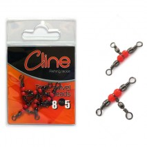 C Line Triple Swivel with red beads